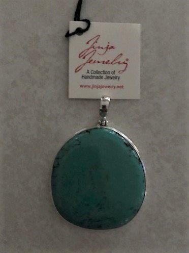 Turquoise Round Natural Blue Ex-large Pendant