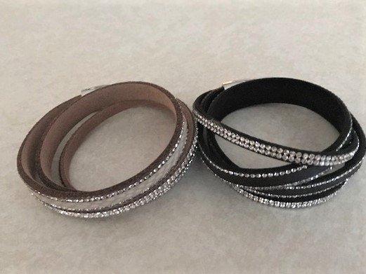 Leather Sparkle Bracelet JBR-026-6154