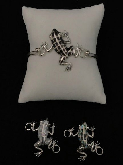 Sterling Silver Frog Topper Top-ATD-1