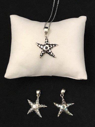 Sterling Silver Starfish Pendant APD-4-Starfish