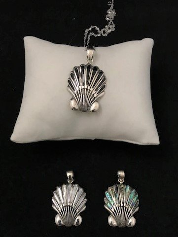 Sterling Silver Scallop Pendant