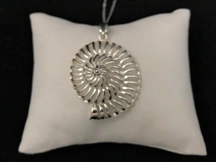 Sterling Silver Open Nautilus Shell Pendant APD-09131