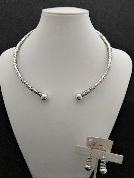Sterling Silver Front Opening Choker AKL-802