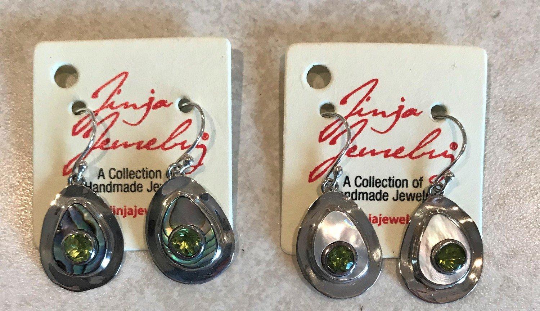 Sterling Silver Teardrop Stone Earrings