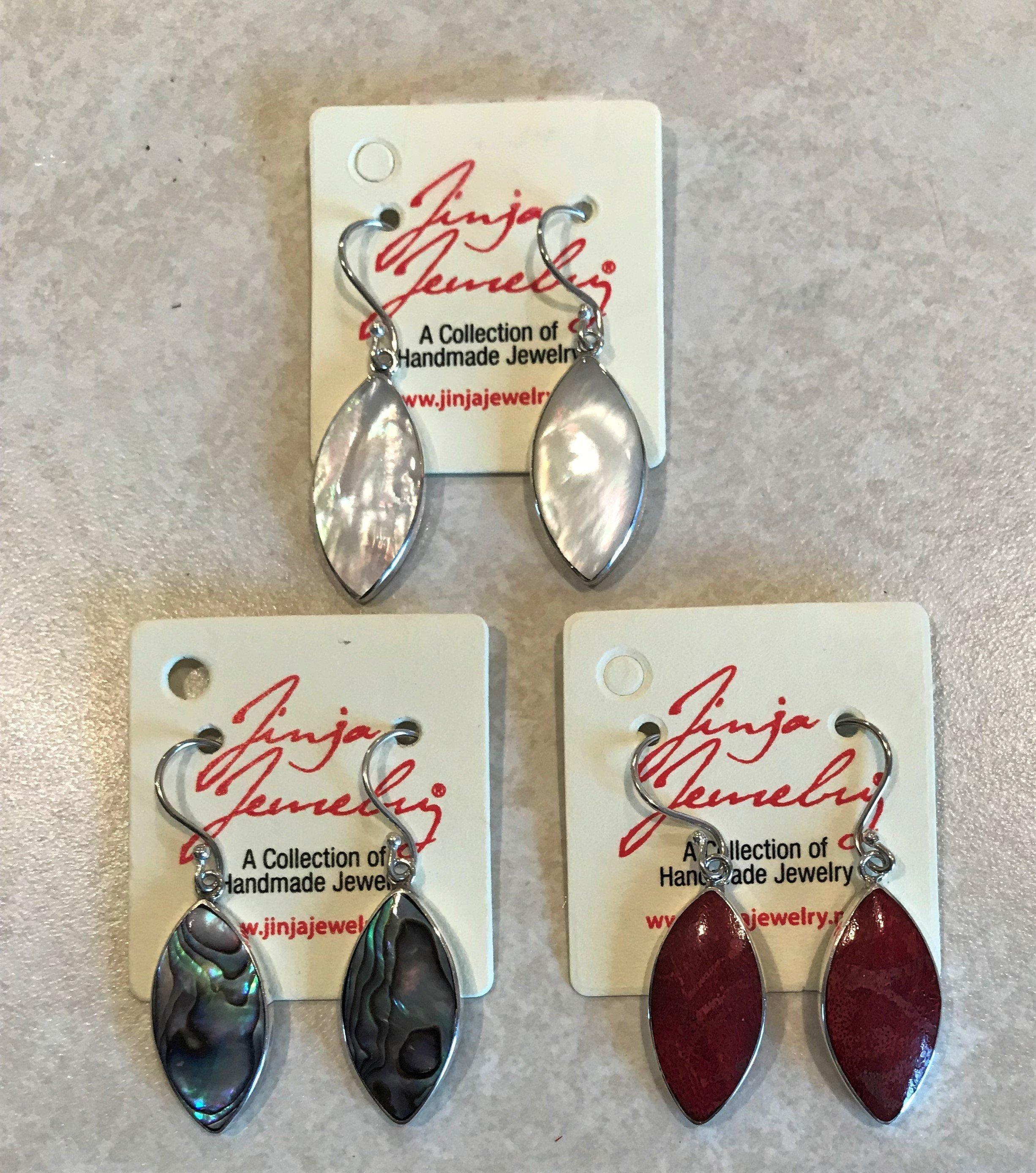 Sterling Silver Diamond Shape Earrings AER-4191