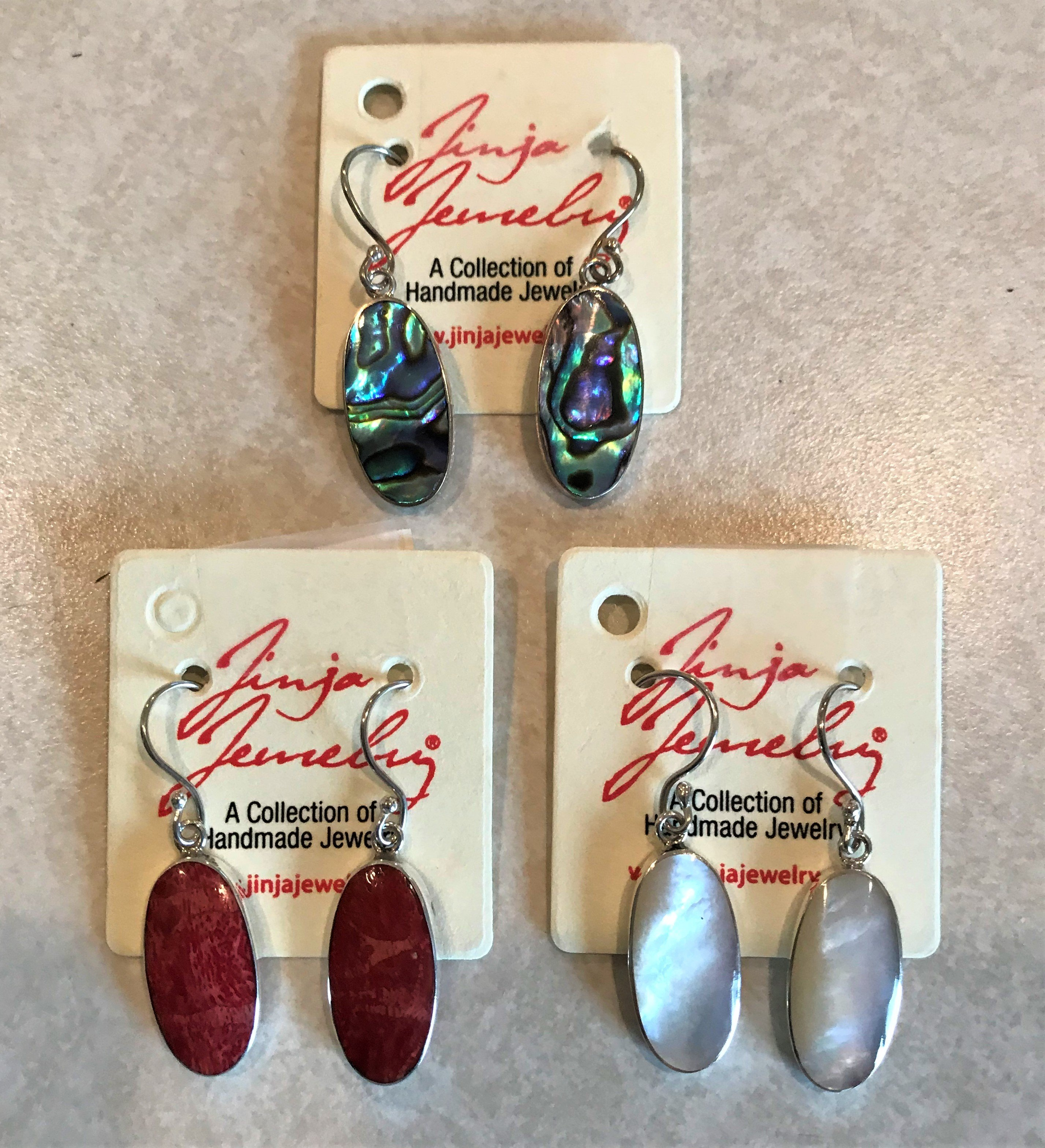 Sterling Silver Oval Earrings AER-3353/4253