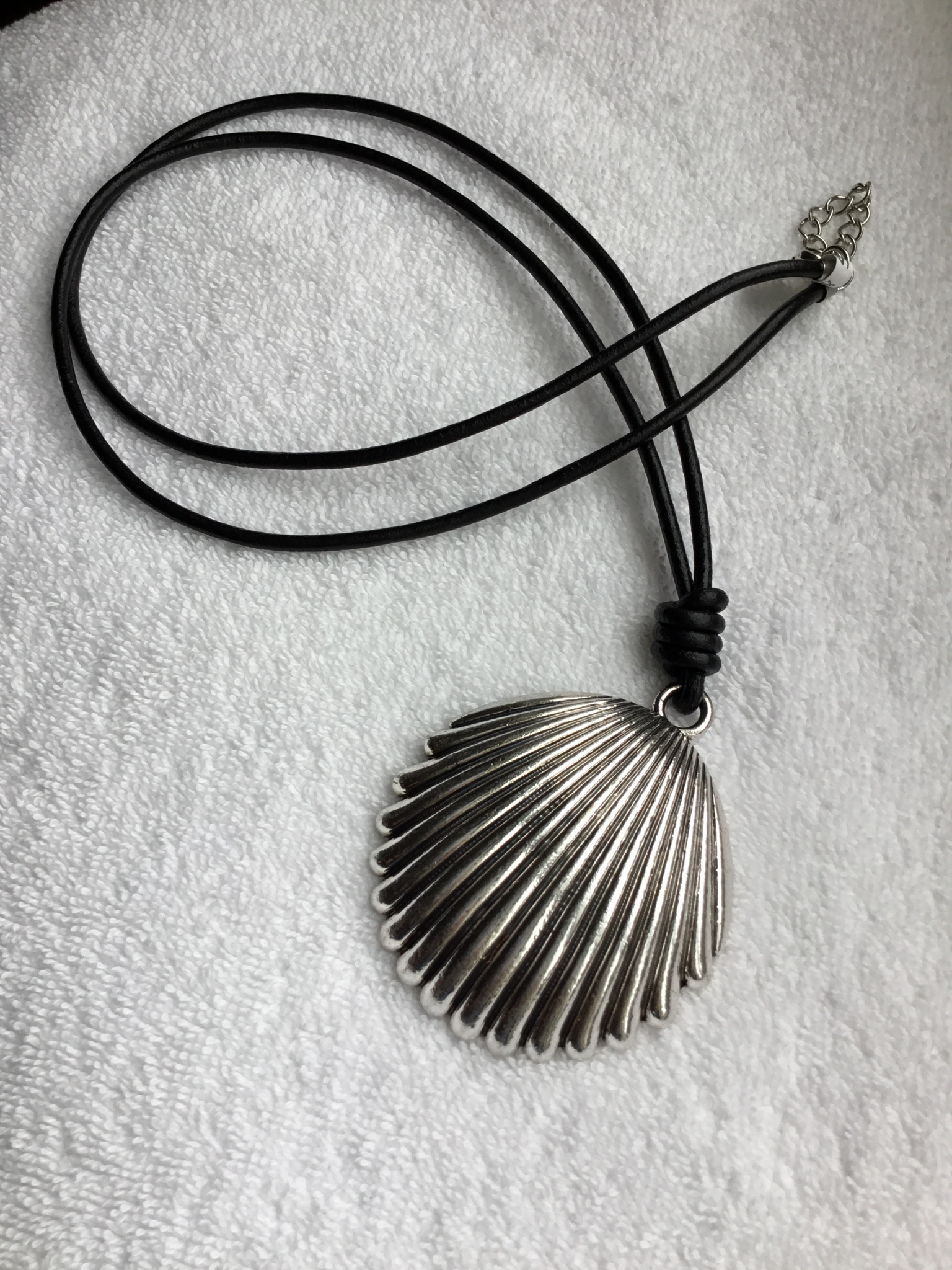 Leather Sea Shell Long Necklace