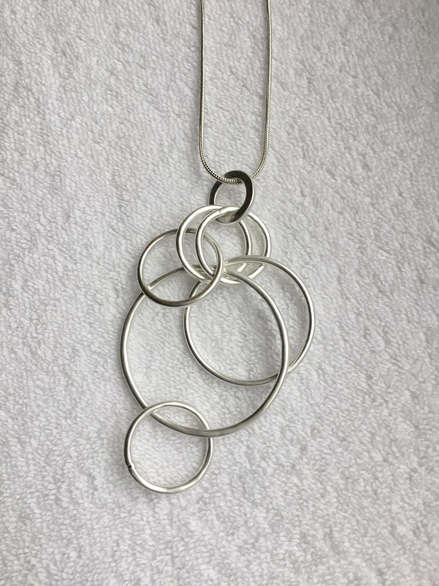 Hanging Circle Link Necklace  JNL-005-7013