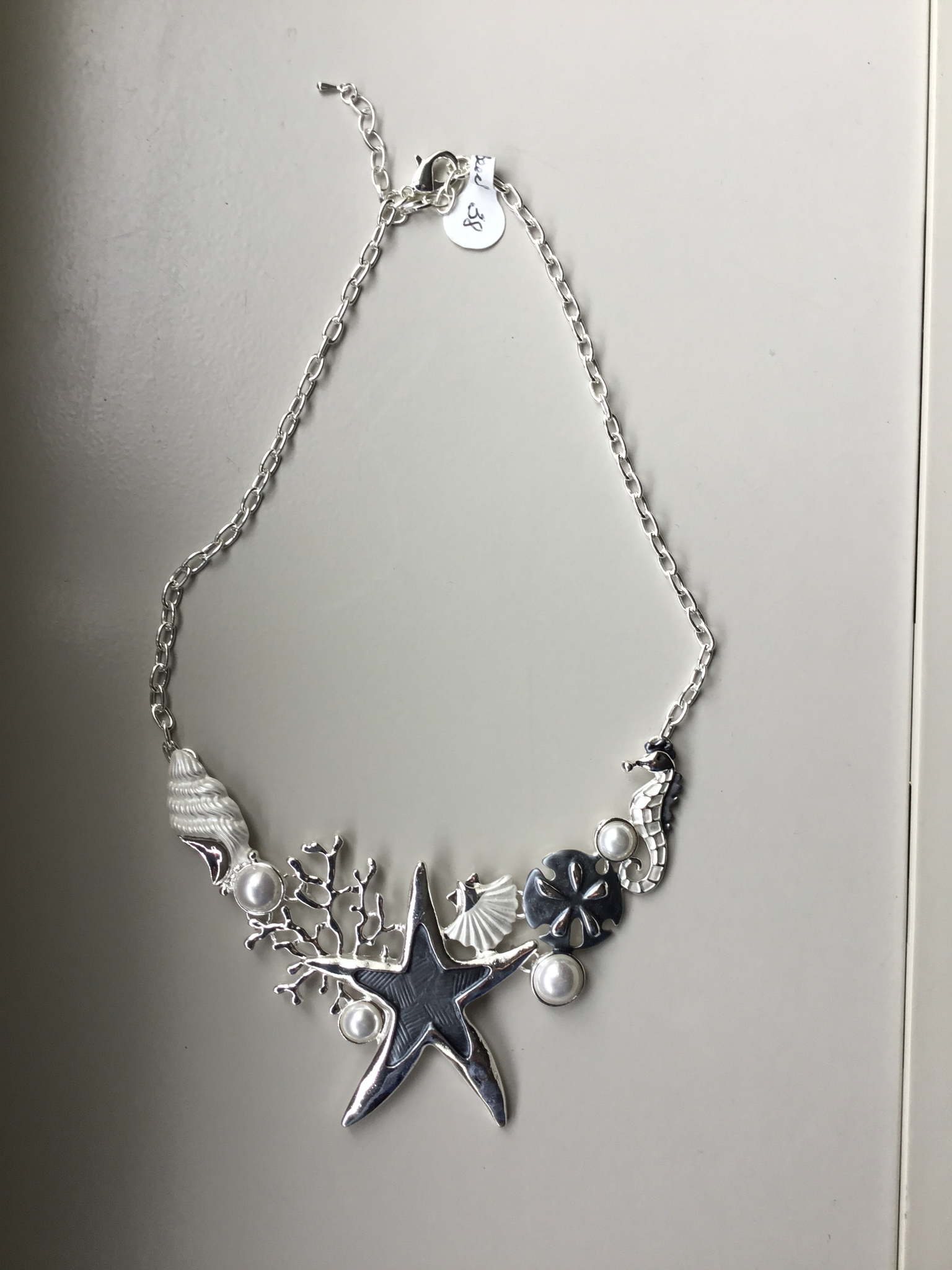 Starfish Coral Sandollar Necklace JNE-011-6979