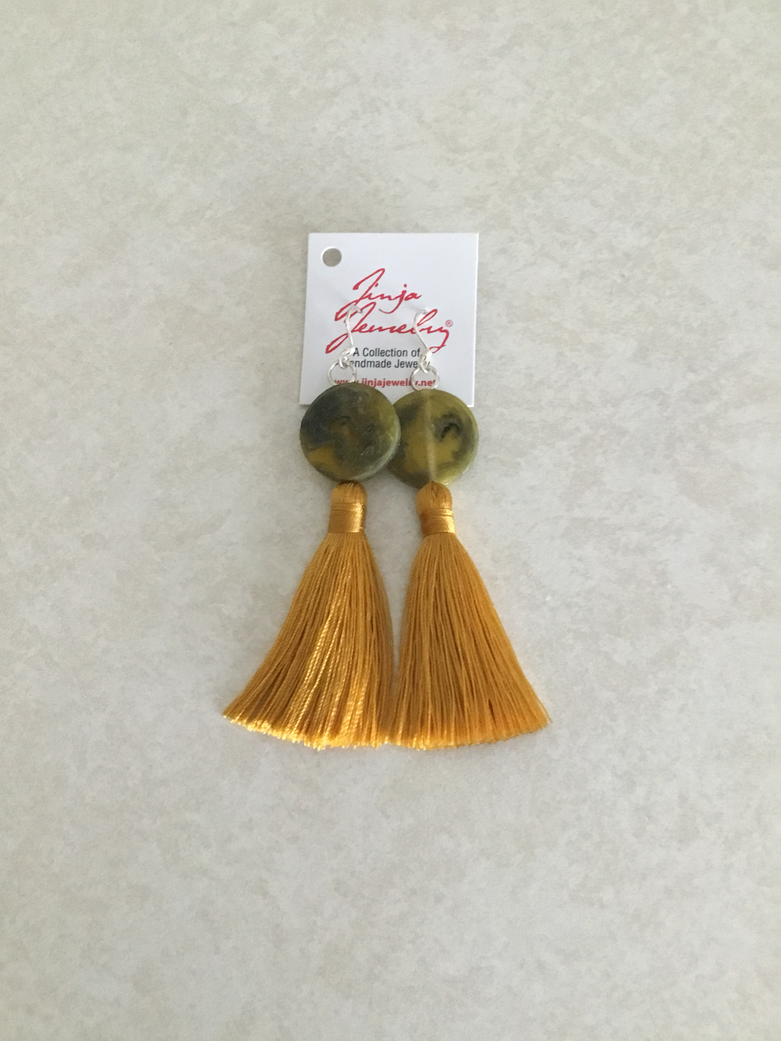 Antique Yellow with Gold Tassel