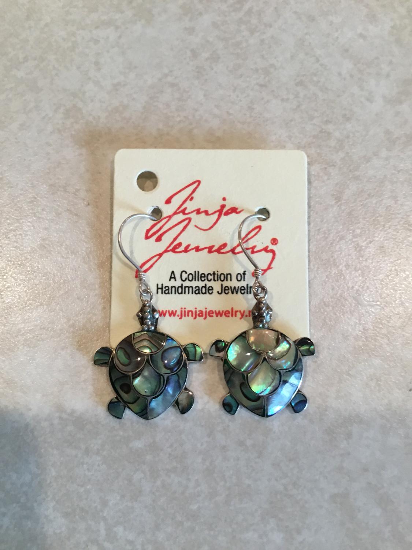 Abalone Handmade Turtle Earrings