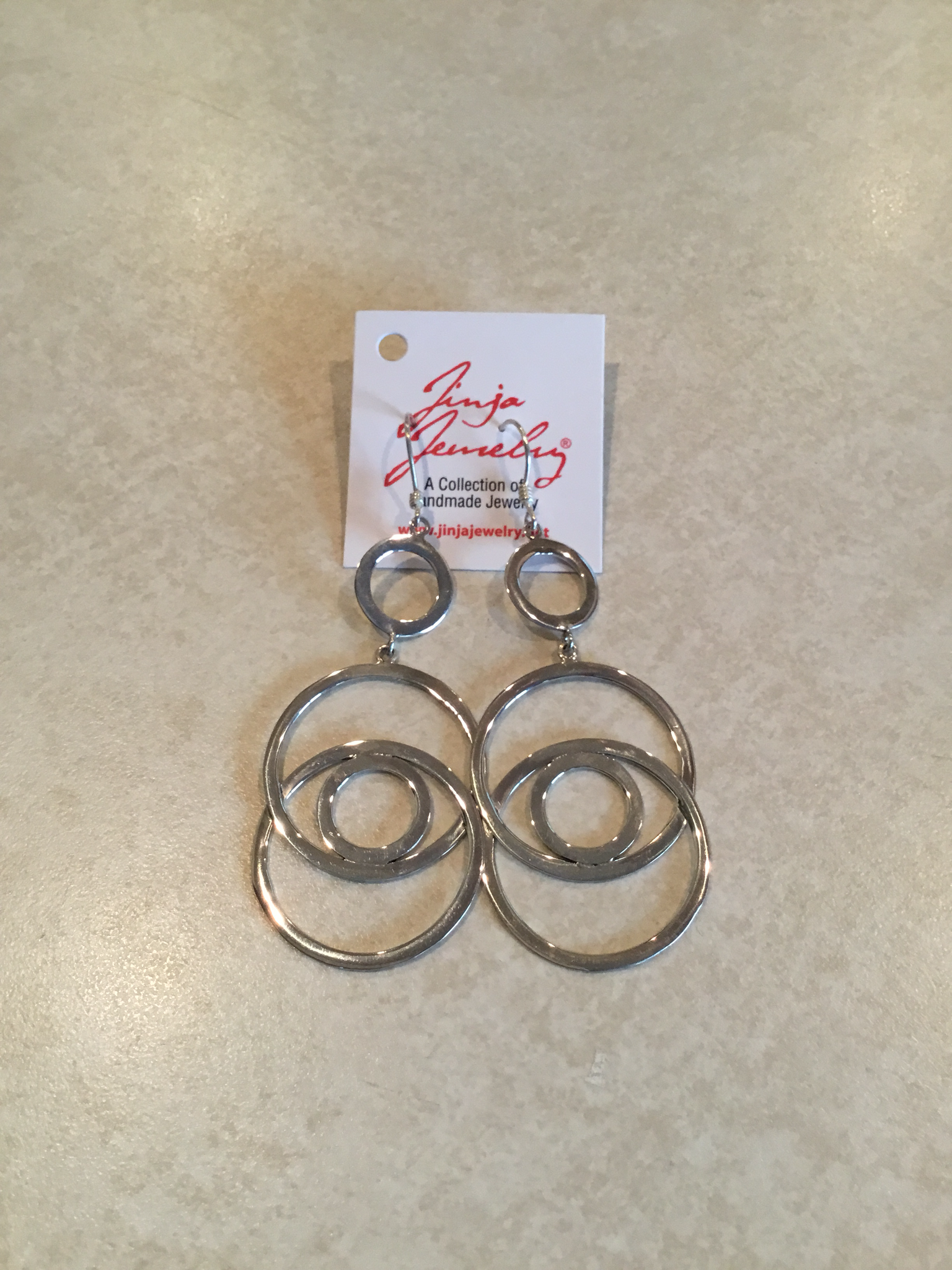 Sterling Silver Double Loop Earrings