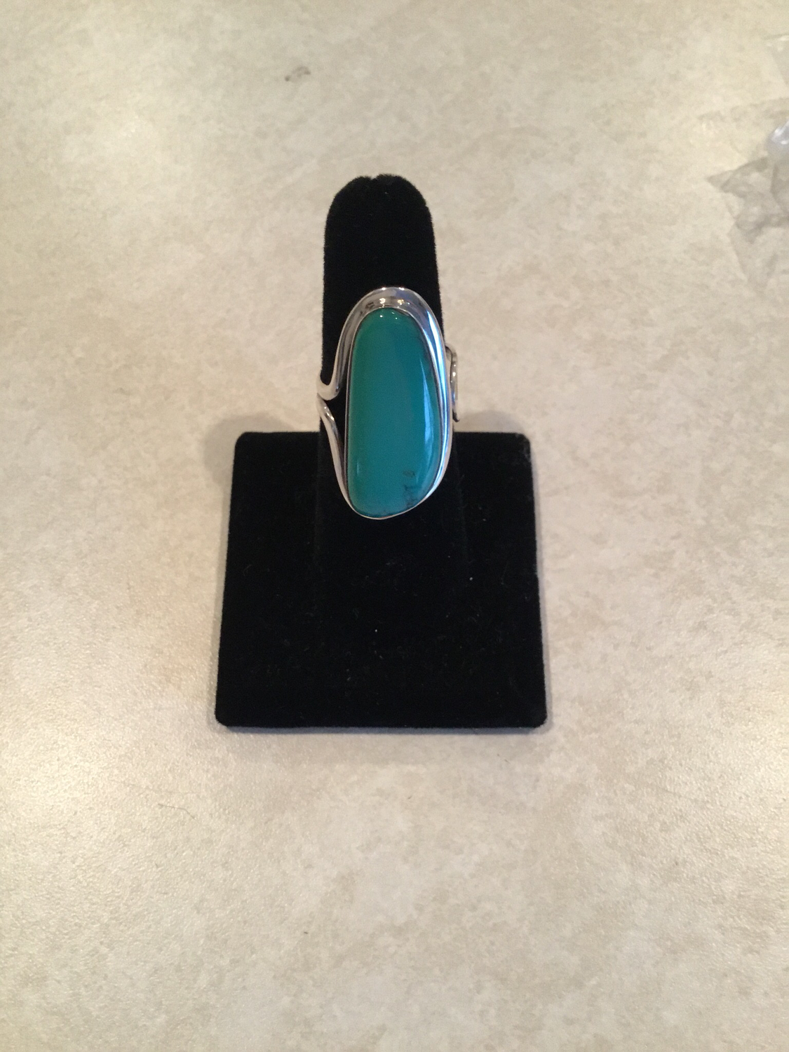 Sterling Silver Handmade Natural Blue/Green Turquoise Ring