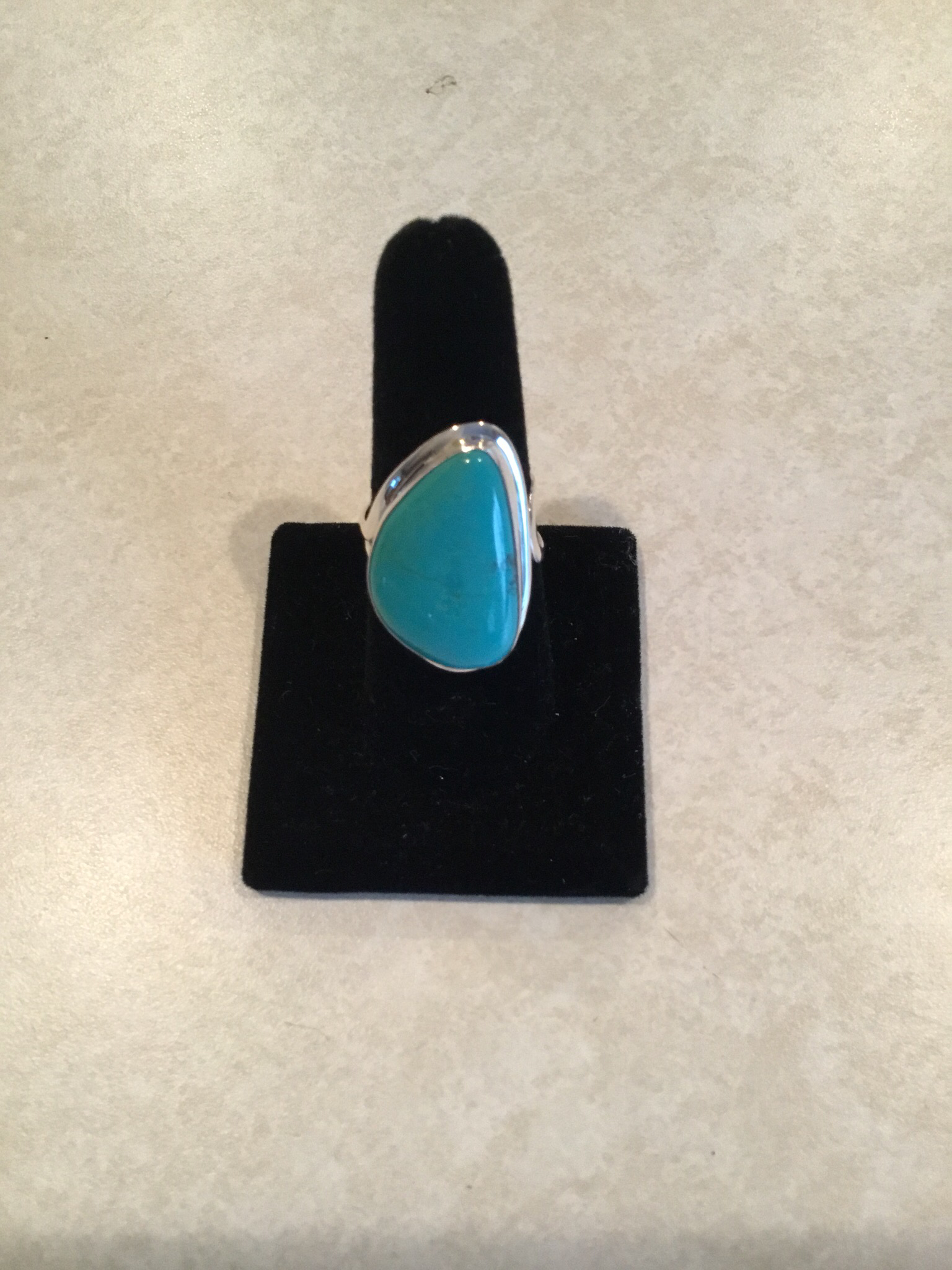 Sterling Silver Medium Abstract Turquoise Ring ACC-Turq-9