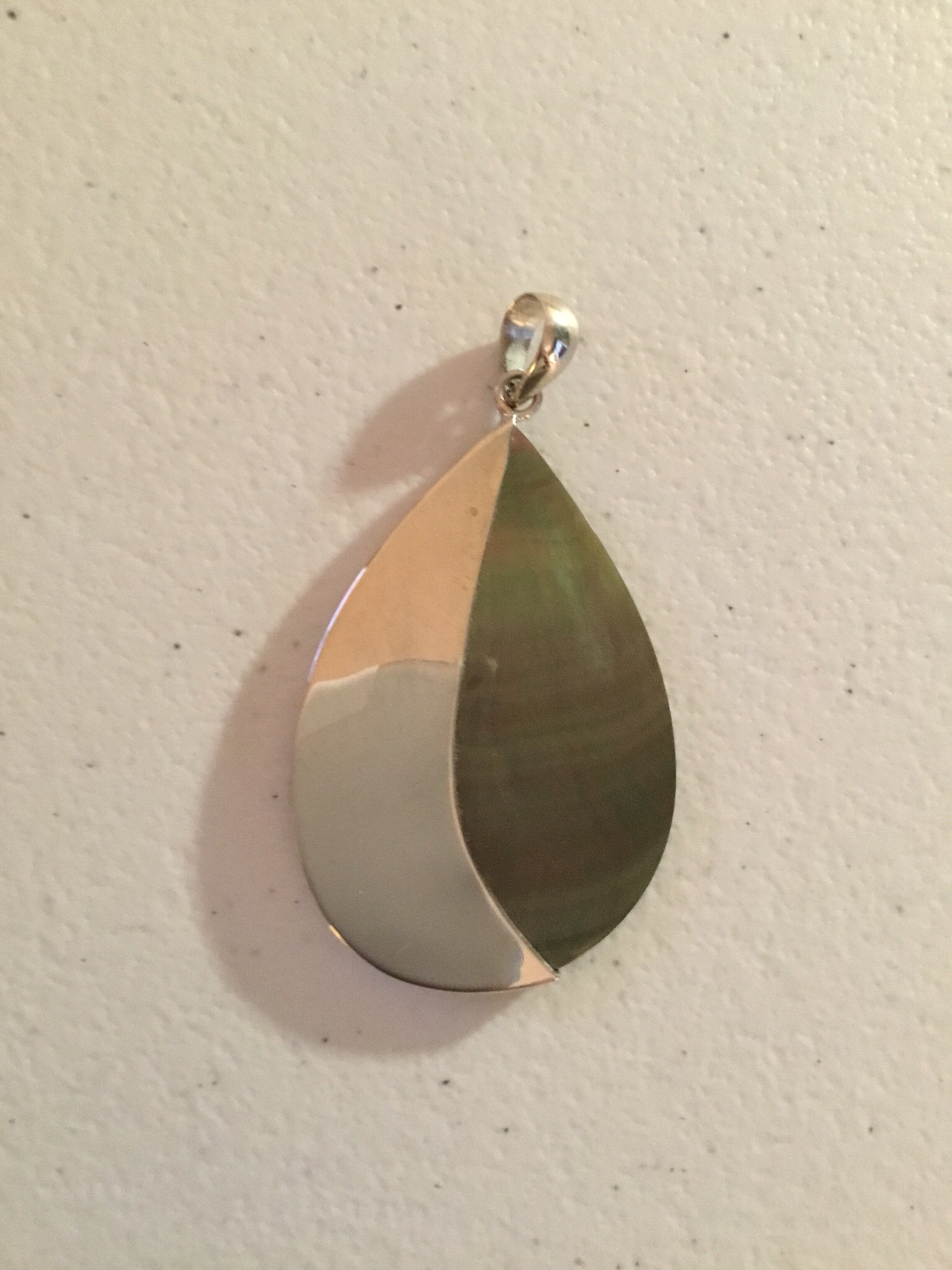 Gray Mother of Pearl Sterling Silver  P-09102-Gr