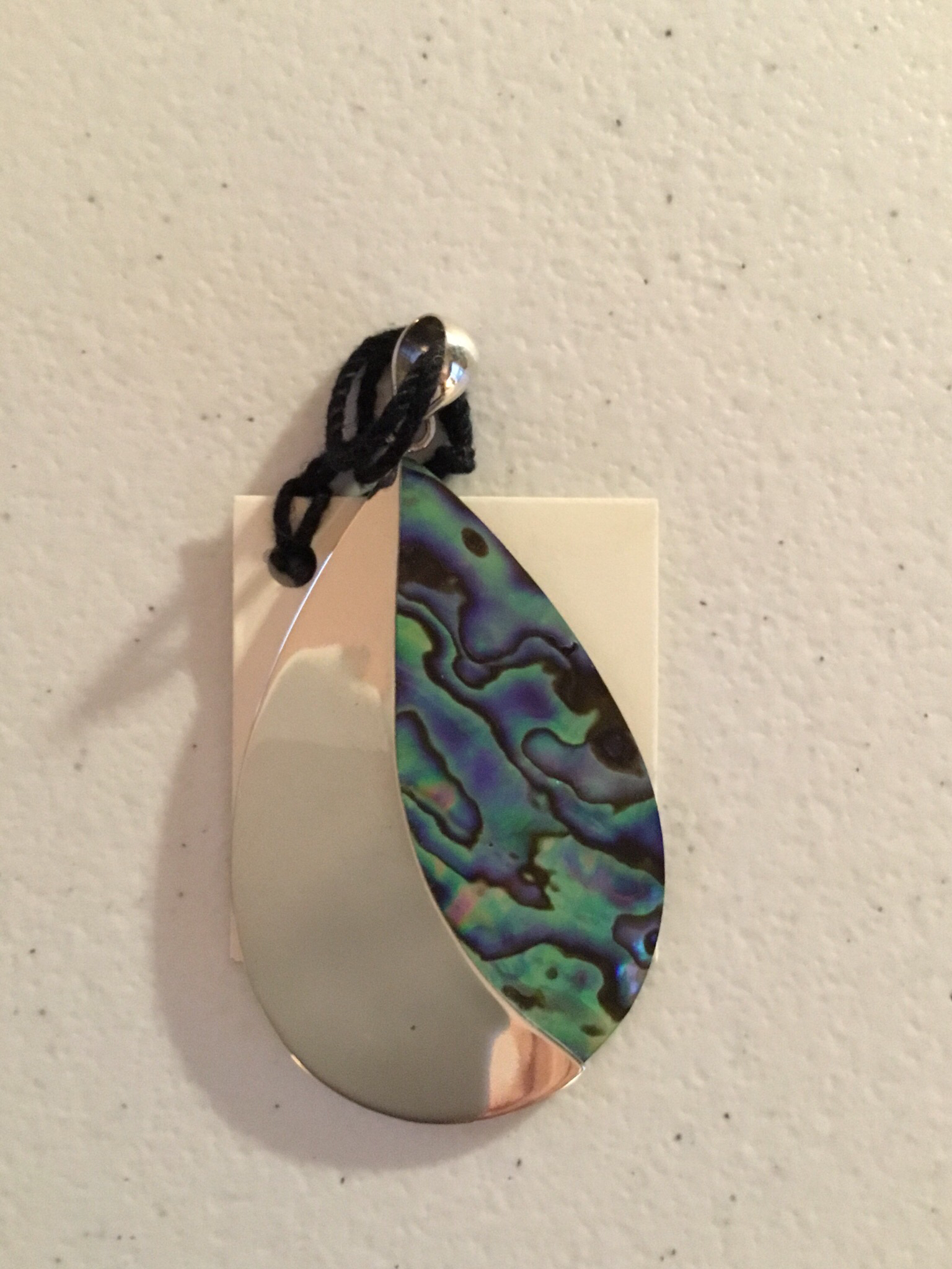 Abalone Sterling Silver Pendant     P-09102 AB