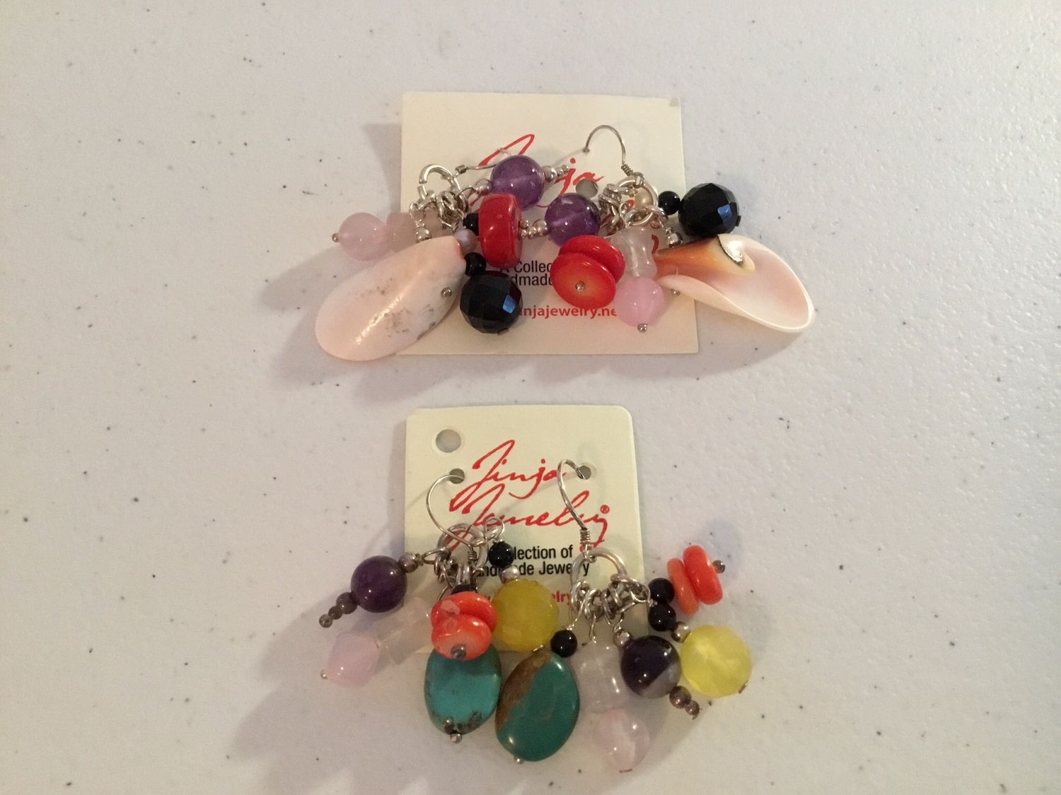 Sterling Silver Gems And Charms Earrings