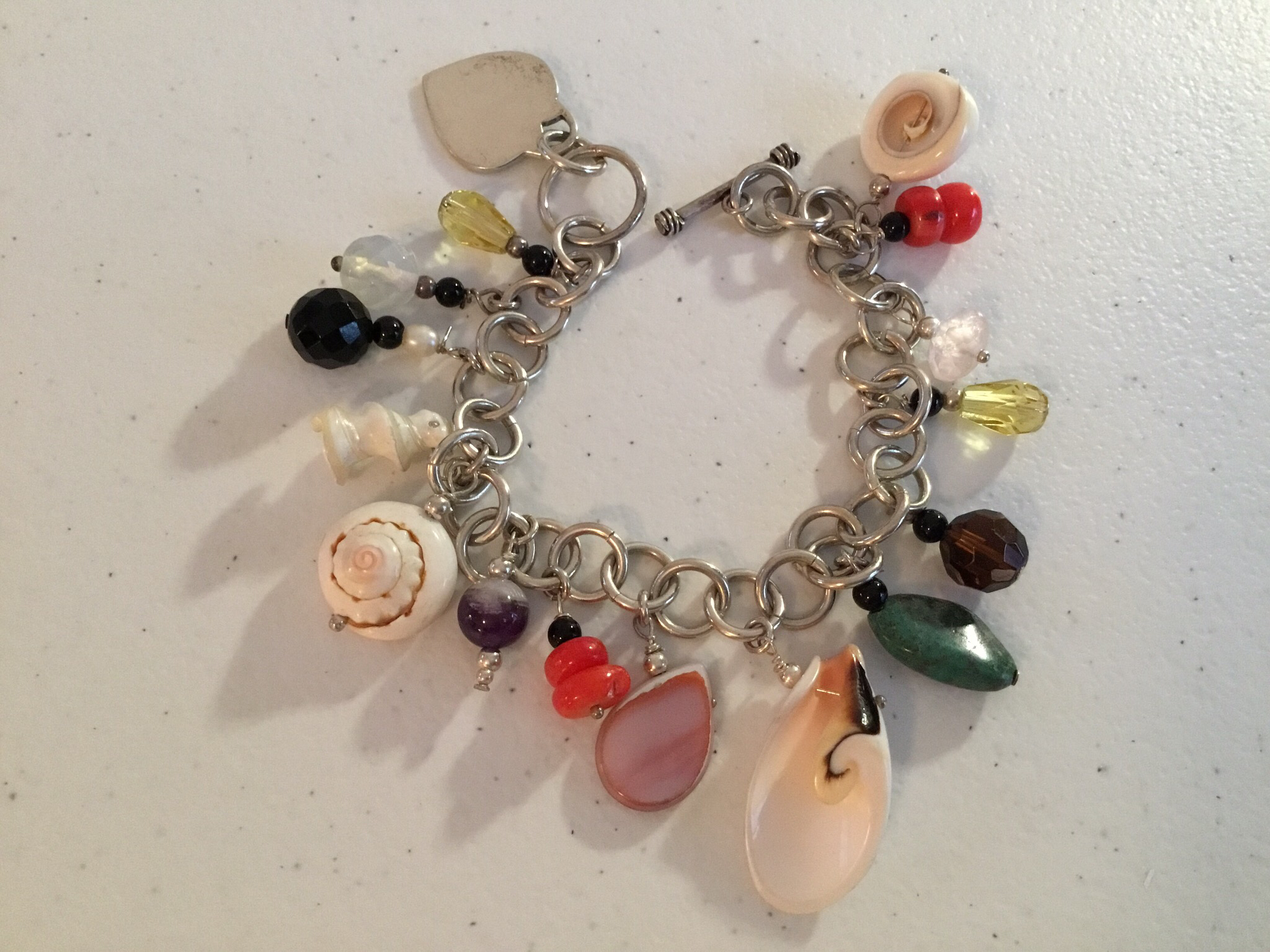 Sterling Silver Gems And Charms  Bracelet  BR-AGL-Oct-1