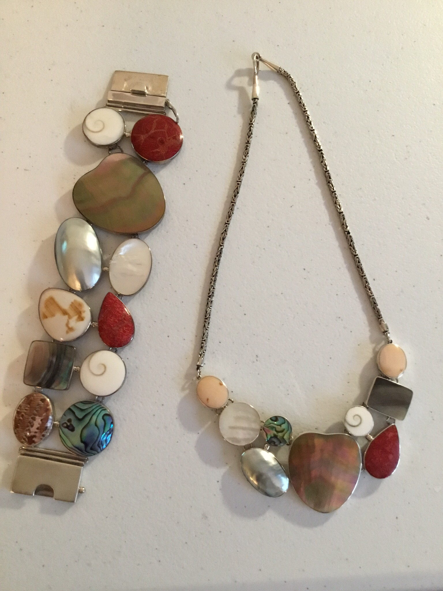 Sterling Silver Assorted Shell Bracelet