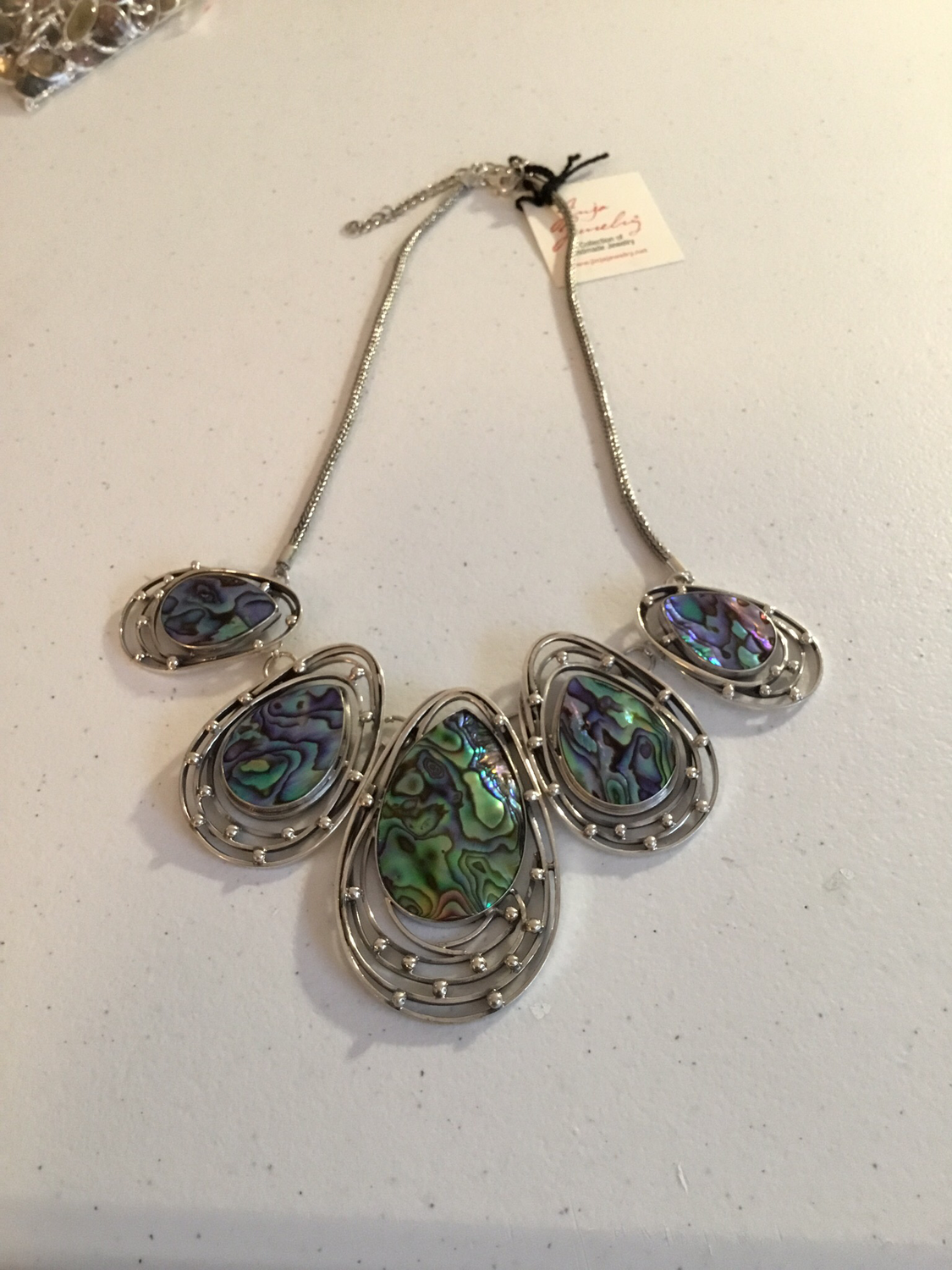 Sterling Silver Handmade Abalone Necklace