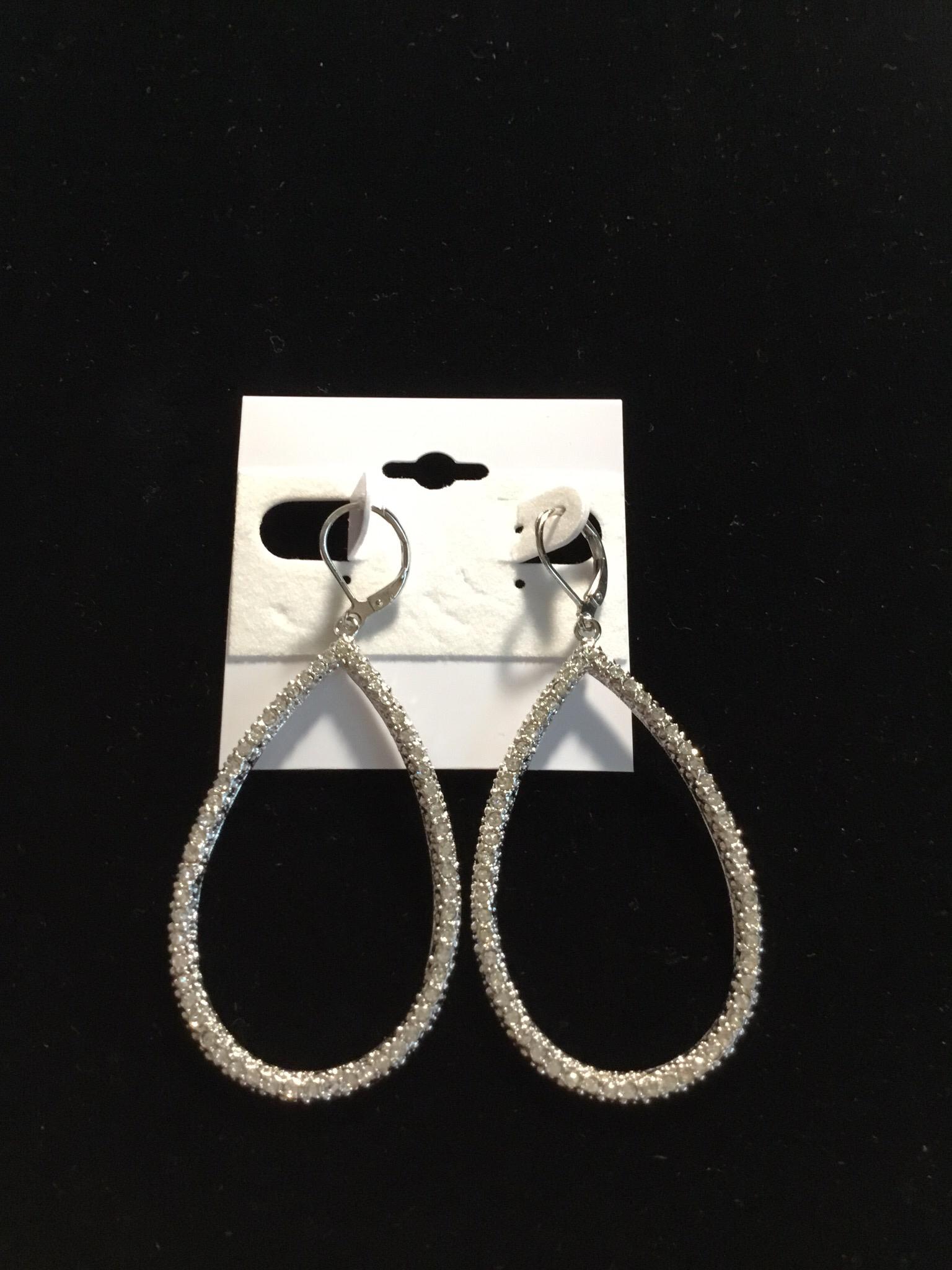Teardrop Crystal Earrings 58-9930