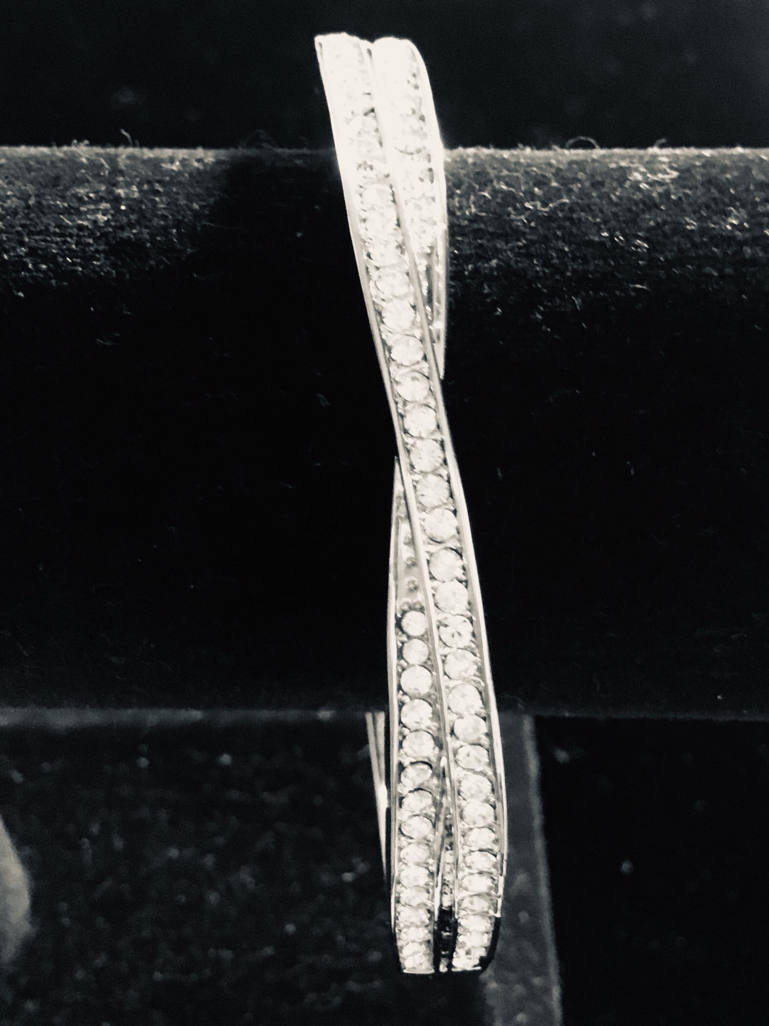 Crossover Crystal Bracelet  100-9513/7
