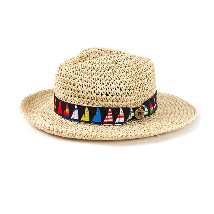 HAT, SAILBOAT STRAW LADIES