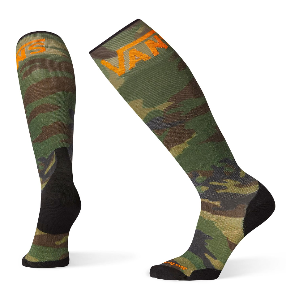 Smartwool Men's PhD Snowboard VANS Woodland Camo Print Light Elite Socks