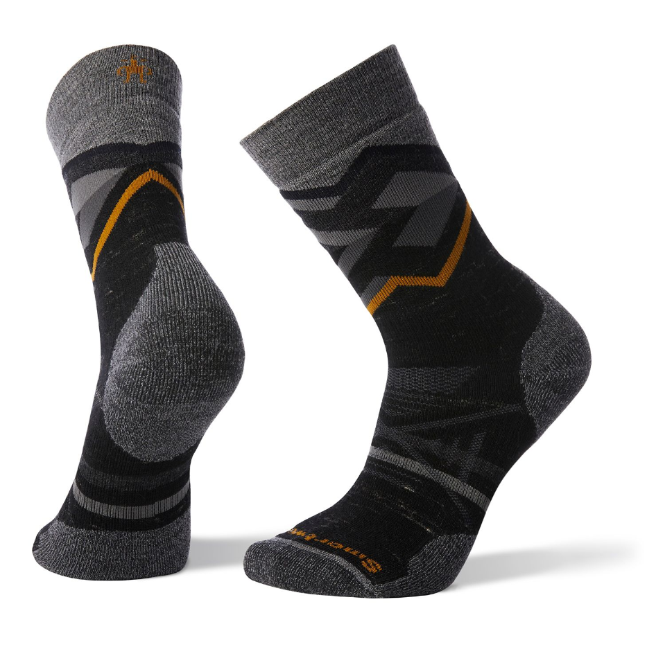 Smartwool Men's PhD Outdoor Medium Pattern Hiking Camp Crew Socks