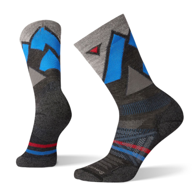 Smartwool Men's PhD Outdoor Light Pattern Crew Hiking Socks