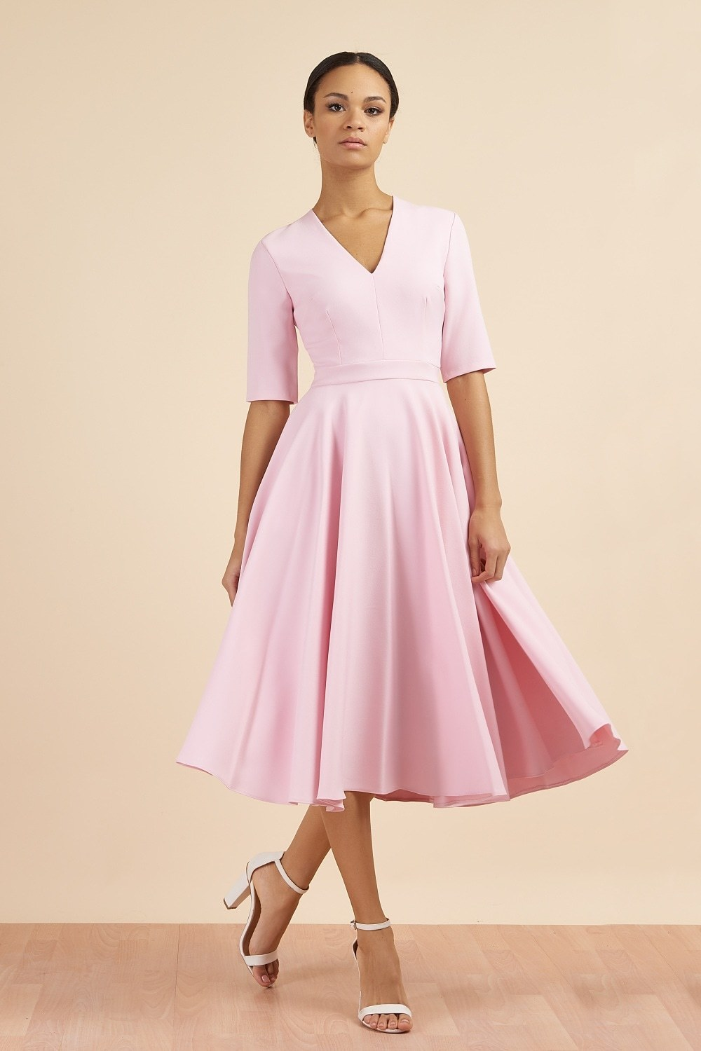 Myla Dress in Pale Pink