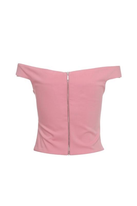 Bardot Bust Top Pink