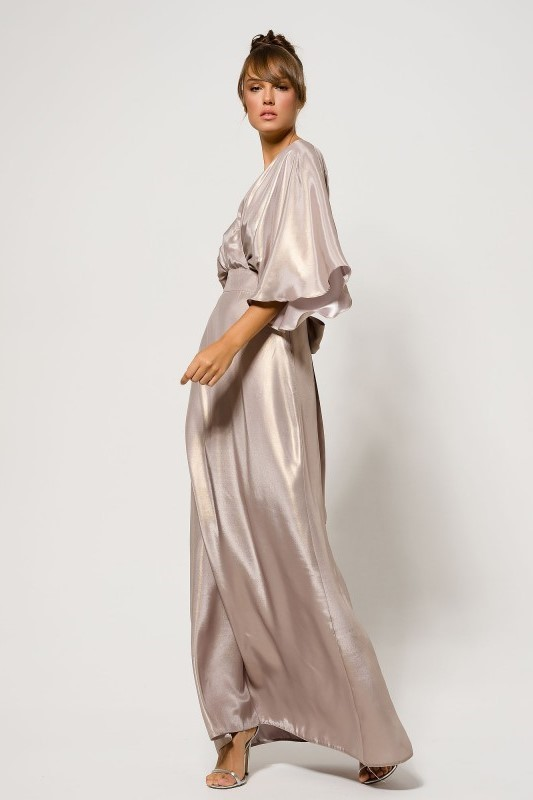Maxi Dress Cape Sleeve