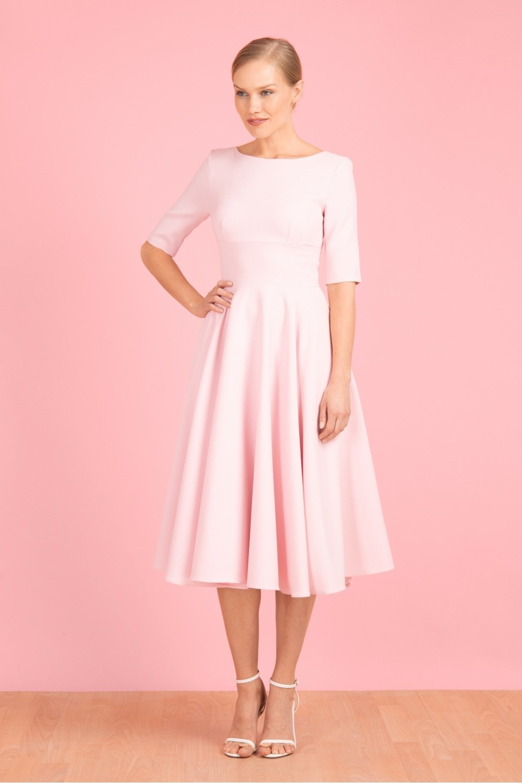 Hepburn Swing Dress Pink