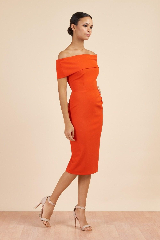 Dani Bardot Dress Orange
