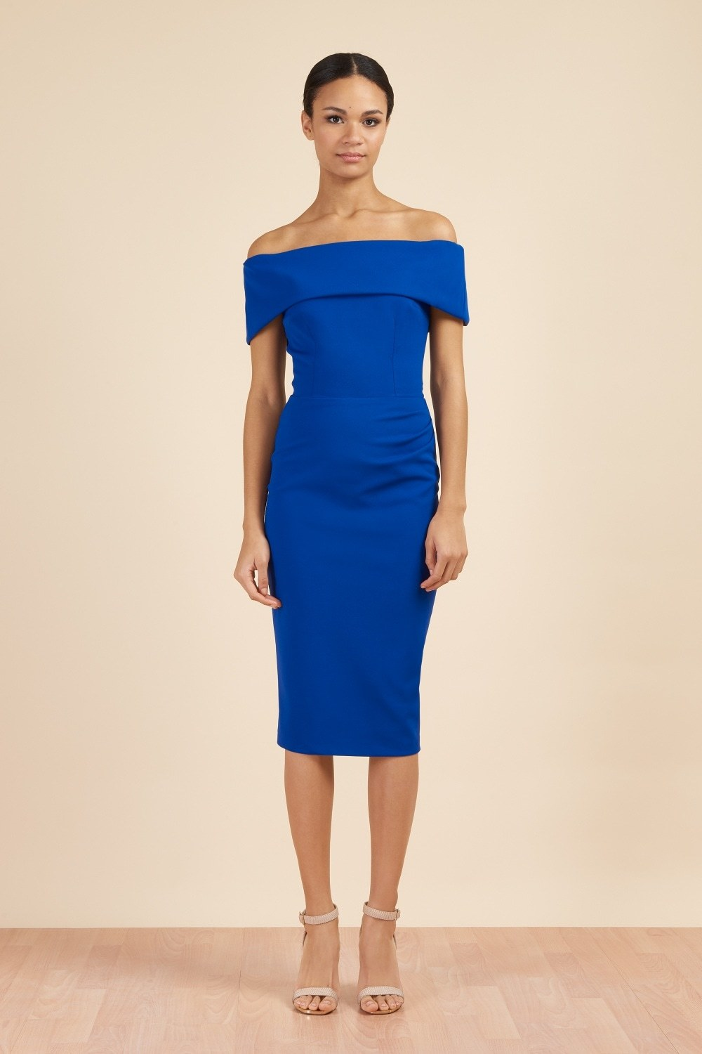 Dani Bardot Dress Cobalt