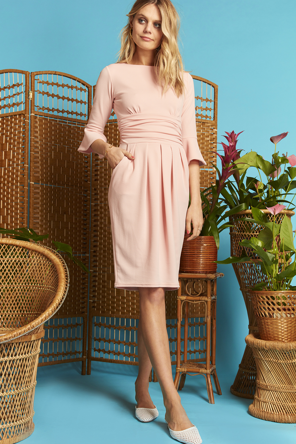 Tammy Dress Blush Pink