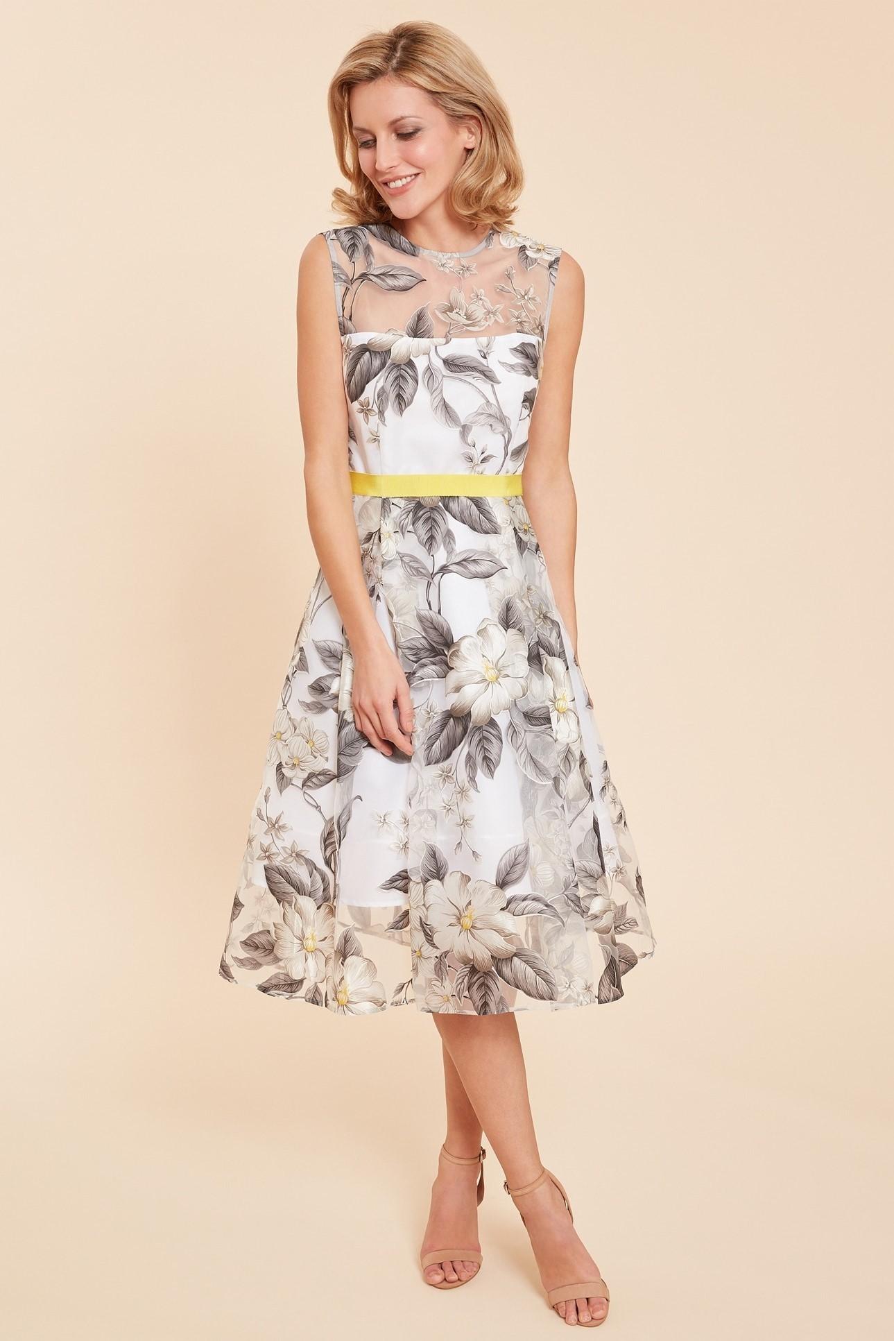 Fiora Floral Organza Dress GBDR1036