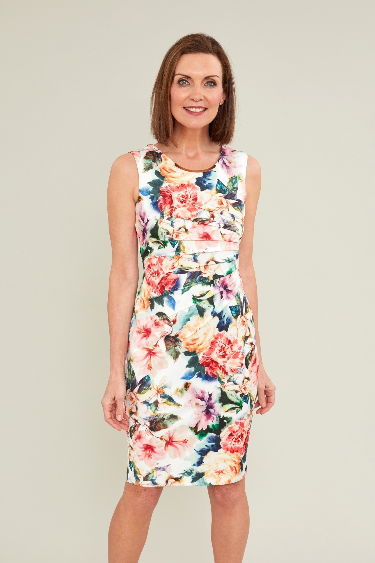 Vitina Floral Scuba Dress GBDR1047