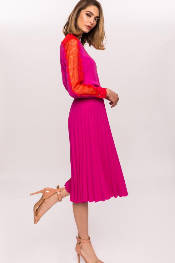 Pleated Midi Skirt NISKF10465
