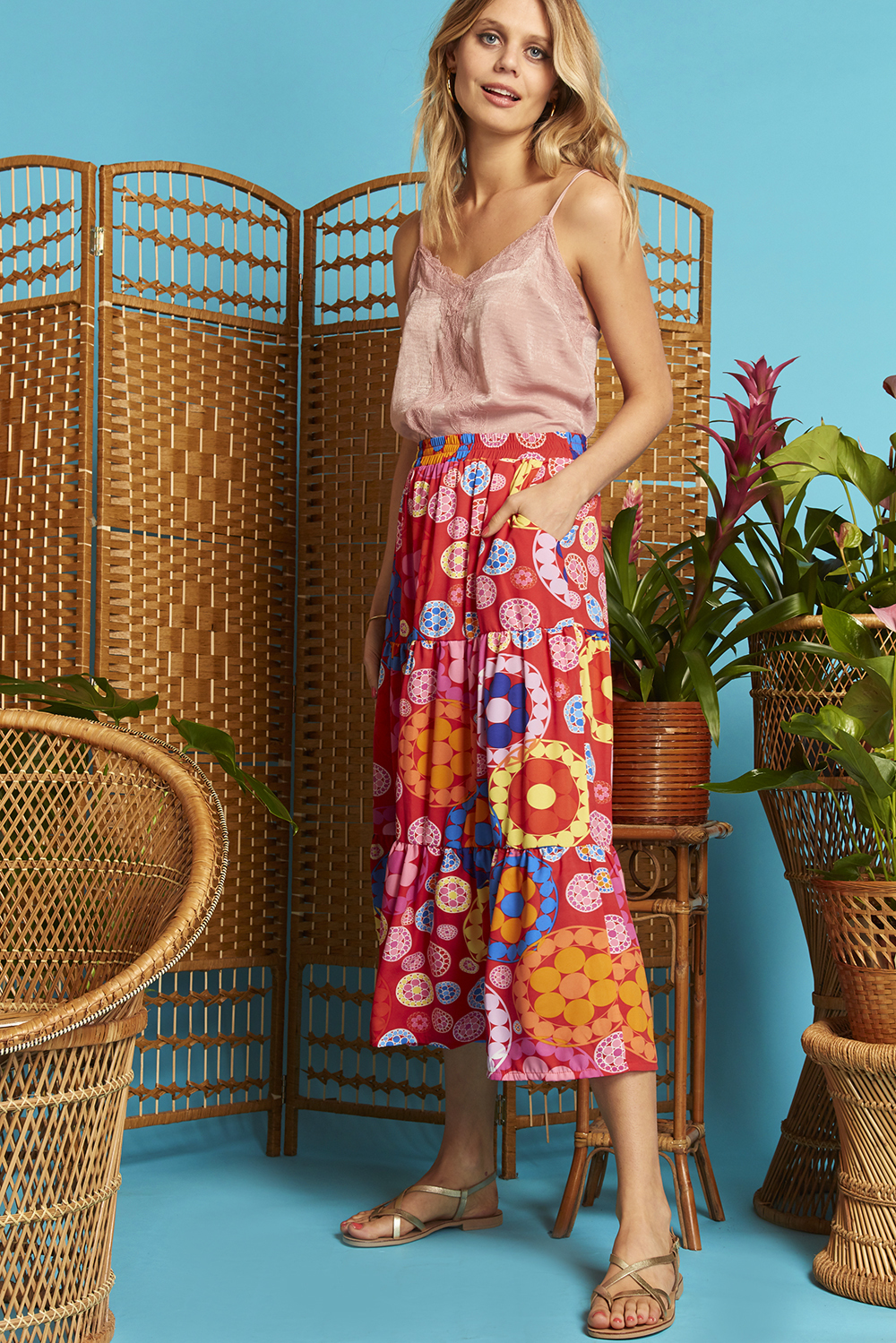 Griffin Skirt in Daisy Print ONJSK