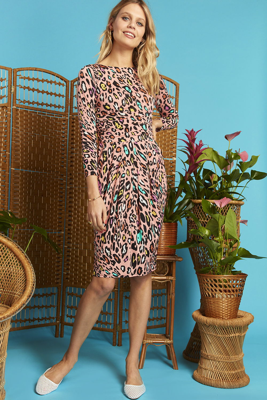 Sydney Dress in Rainbow Leopard Print ONJDRSYDRAIN