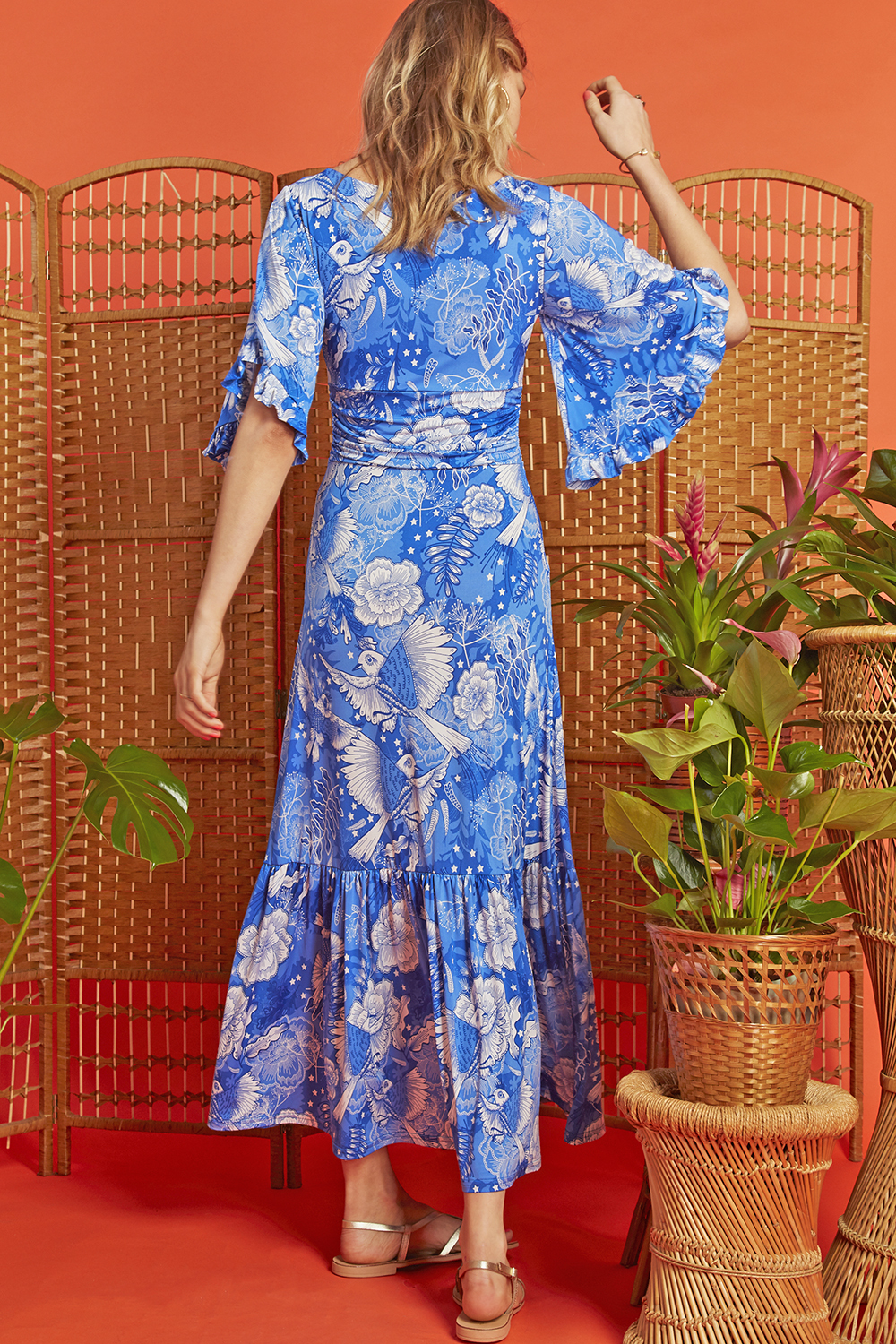 Gabriella Maxi Dress in Frida Blue print