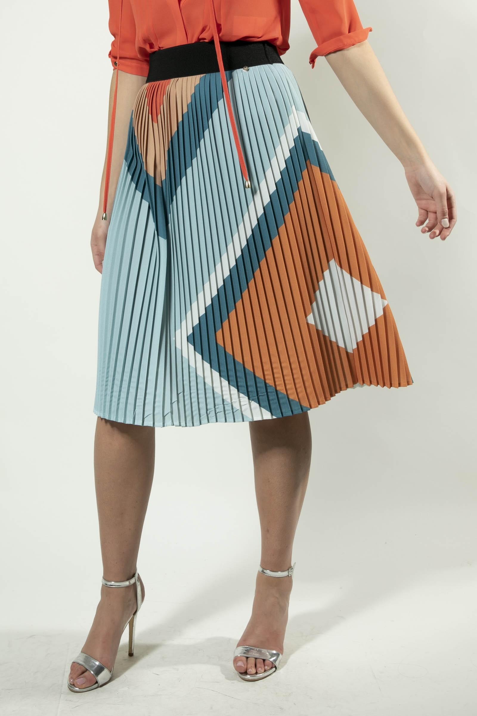 Pleated Diamond Skirt