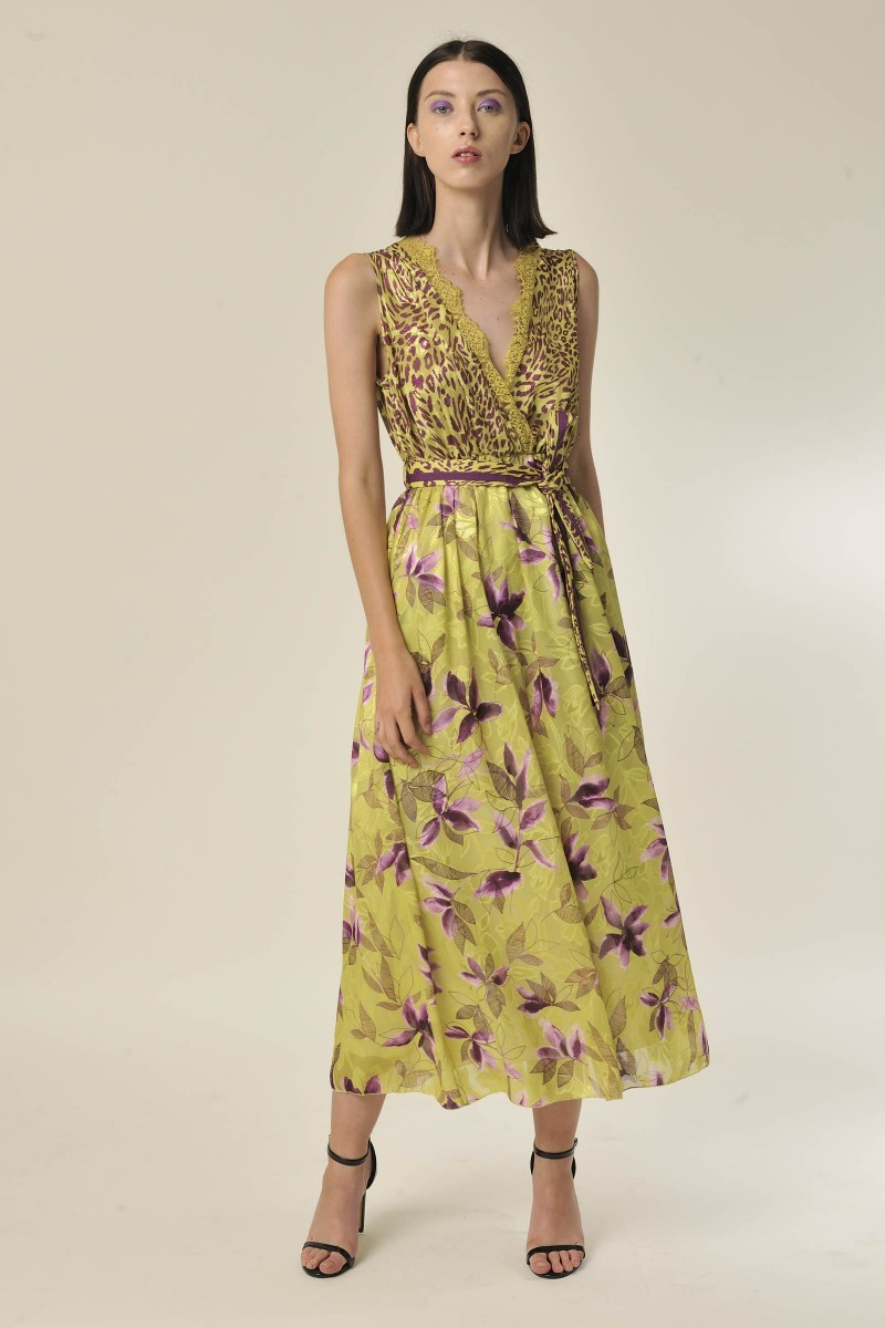 Esotico Dress Lime/Grape G&JDR115S