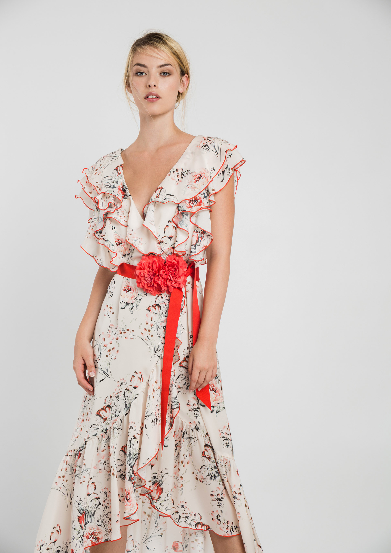 Midi Floral Print Dress ACDR3412