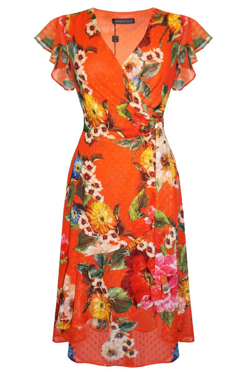 Red Floral Print Dress