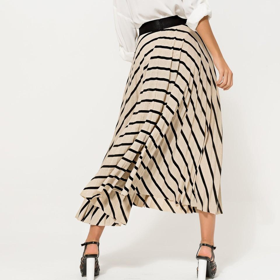 Black and Gold Glitter Striped Skirt