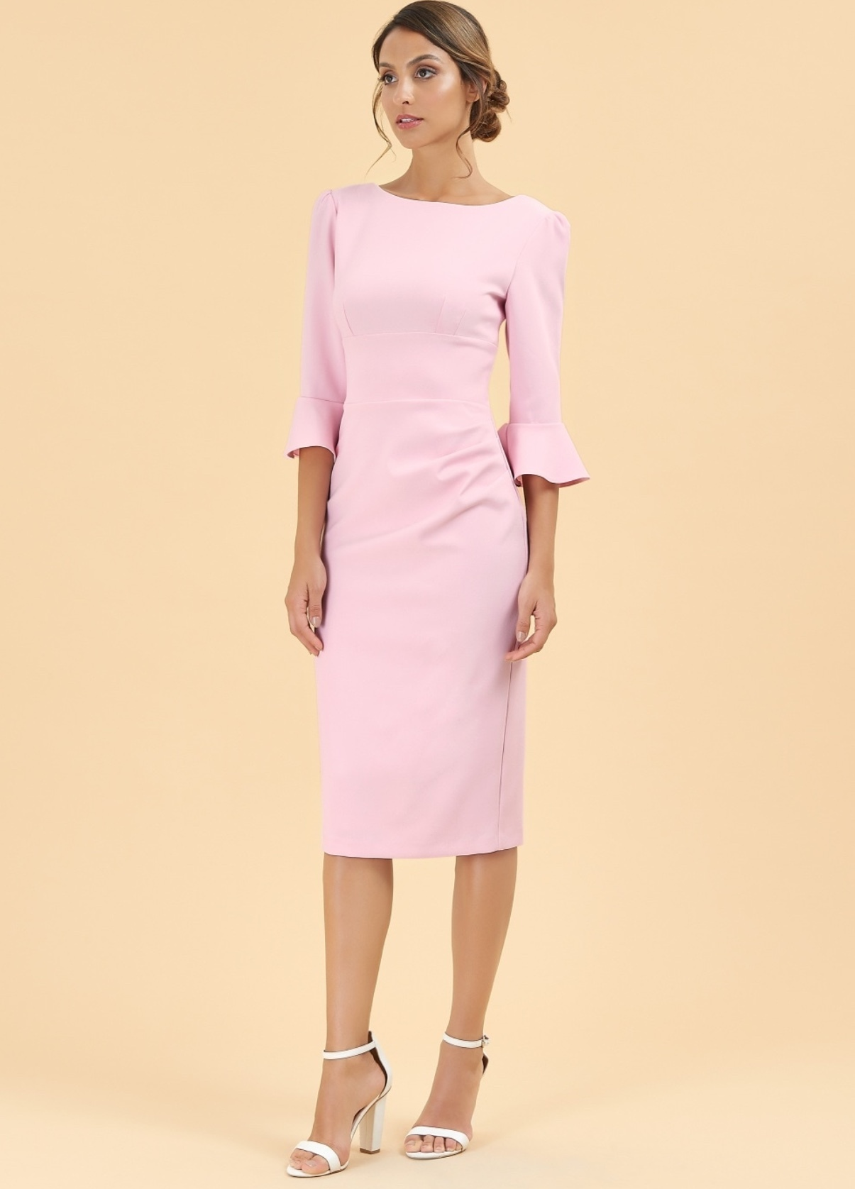 Odelle Dress in Pale Pink PDCDRODPPINK