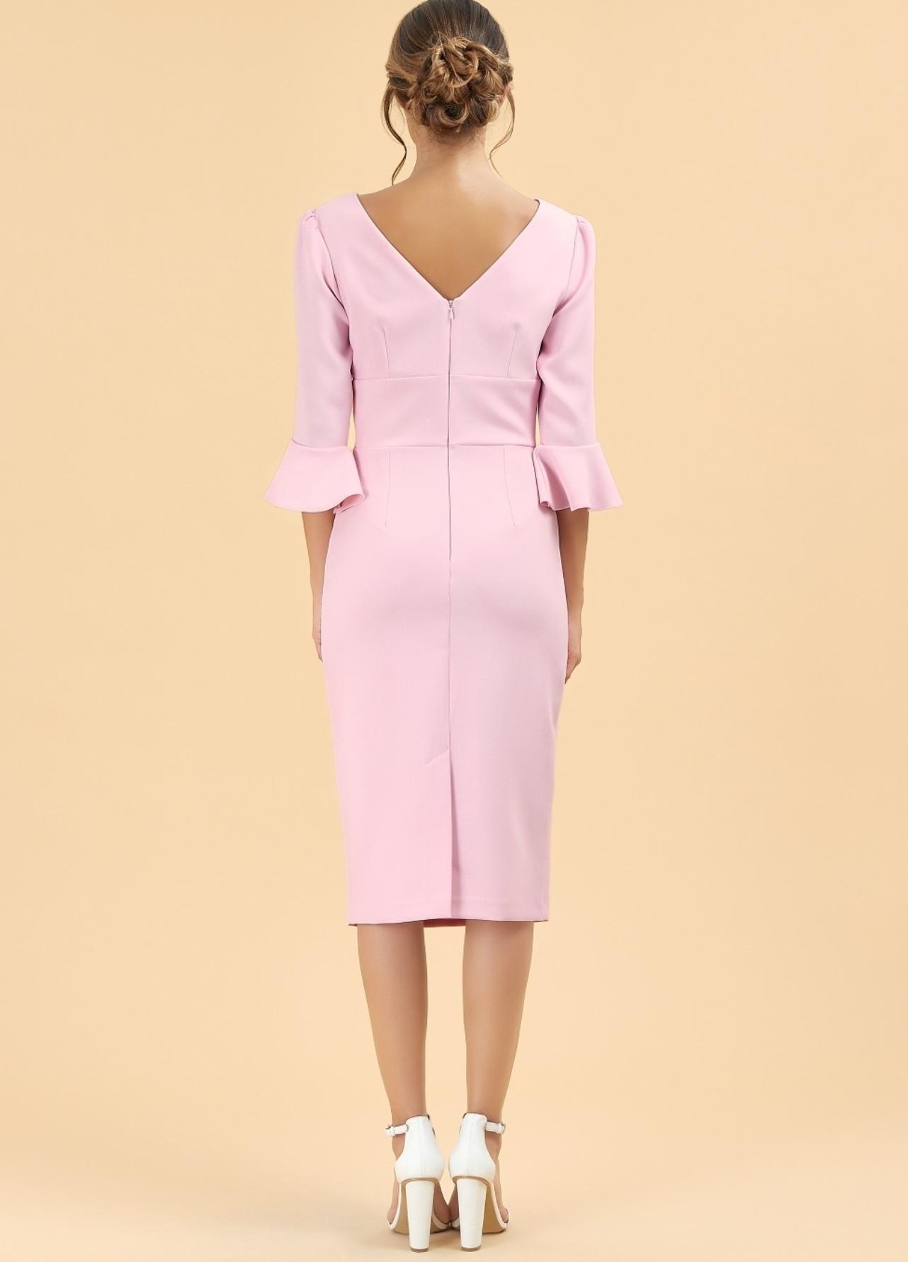 Odelle Dress in Pale Pink